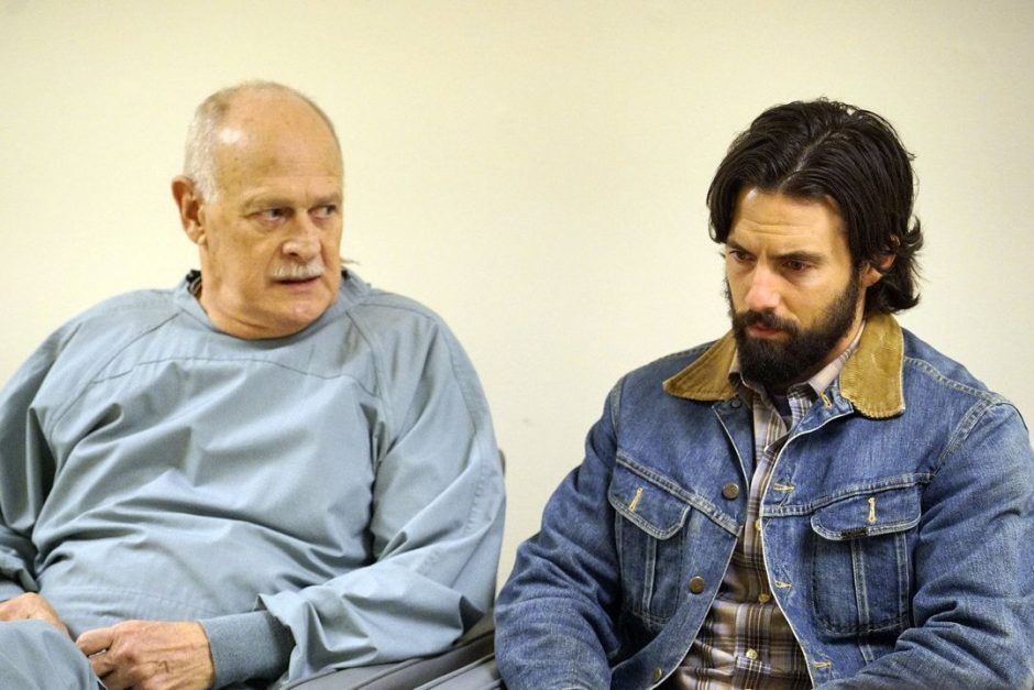 THIS IS US -- Pilot -- Pictured: (l-r) Gerald McRaney as Doctor K, Milo Ventimiglia as Jack -- (Photo by: Paul Drinkwater/NBC)
