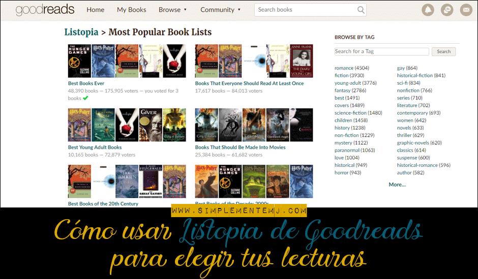 Listopia de Goodreads