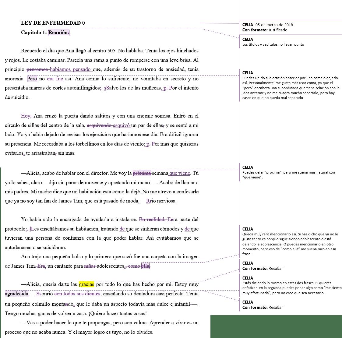 corregir tu novela