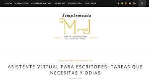 asistente virtual para escritoras